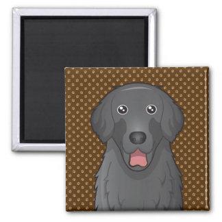 Flat-Coated Retriever Dog Cartoon Paws Magnets