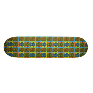 Flat-Coated Retriever Dog Cartoon Pop-Art Skateboard Deck