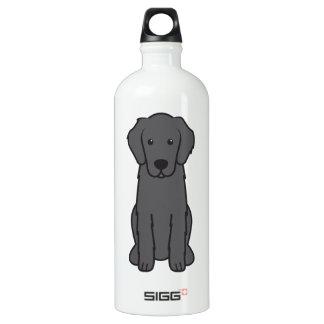 Flat Coated Retriever Dog Cartoon SIGG Traveler 1.0L Water Bottle