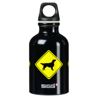 Flat Coated Retriever Dog Silhouette Crossing Sign SIGG Traveler 0.3L Water Bottle