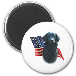 Flat-Coated Retriever Flag Magnet