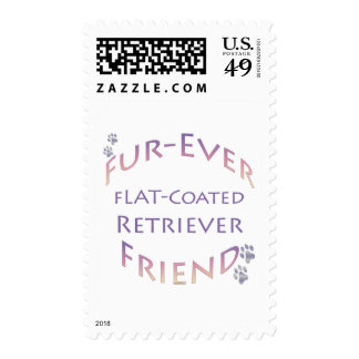 Flat-Coated Retriever Furever Postage