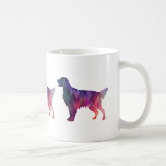 Flat-coated Retriever Geometric Silhouette -Pink Coffee Mug