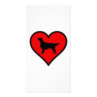 Flat-Coated Retriever Heart Love Dogs Card