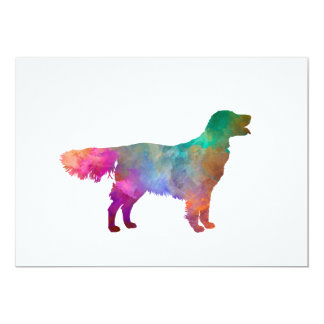Flat Coated Retriever in watercolor Card