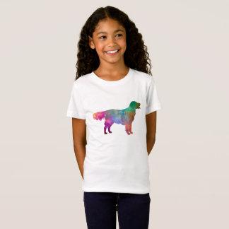 Flat Coated Retriever in watercolor T-Shirt