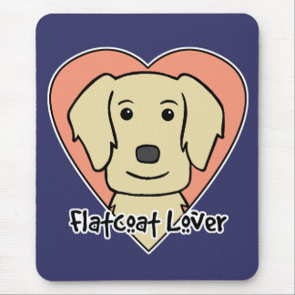 Flat-Coated Retriever Lover Mouse Pad
