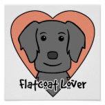 Flat-Coated Retriever Lover Poster