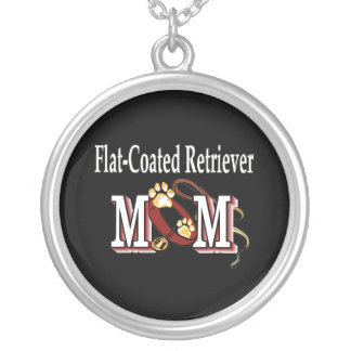 Flat-Coated Retriever Mom Gifts Silver Plated Necklace