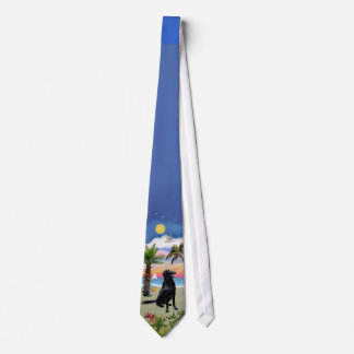 Flat Coated Retriever - Palm Beach Neck Tie