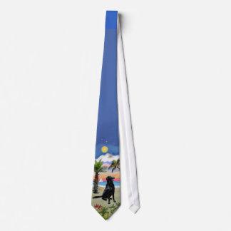 Flat Coated Retriever - Palm Beach Neck Tie