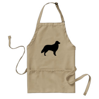 Flat Coated Retriever Silhouette Adult Apron