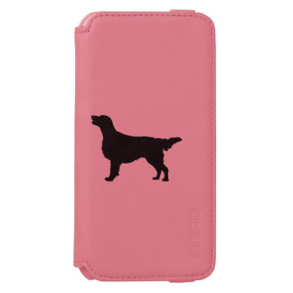 Flat-Coated Retriever Silhouette Love Dogs iPhone 6/6s Wallet Case