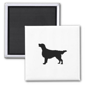 Flat-Coated Retriever Silhouette Love Dogs Magnet
