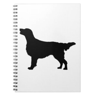 Flat-Coated Retriever Silhouette Love Dogs Notebook