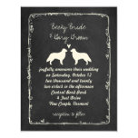 Flat Coated Retriever Silhouettes Wedding Card