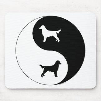 Flat-Coated Retriever Yin Yang Mouse Pad