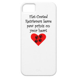 Flat-Coated Retrievers Leave Paw Prints On Your He iPhone SE/5/5s Case