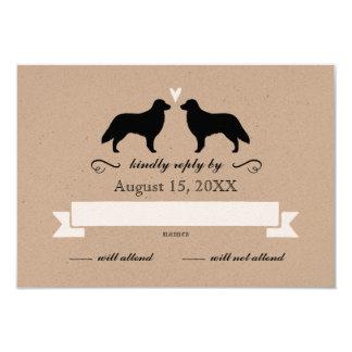 Flat Coated Retrievers Wedding Reply RSVP Card
