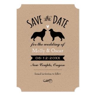Flat Coated Retrievers Wedding Save the Date Card