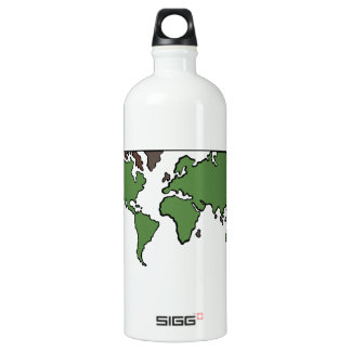Flat Continents Map SIGG Traveler 1.0L Water Bottle