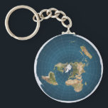 """Flat Earth AE Azimuthal Equidistant Map Key Chain<br><div class=""""desc"""">Flat Earth AE Round Azimuthal Equidistant Map Key Chain.  Please see our other Flat Earth Products in the ALLISONSWONDERS Store: Key Rings,  Watches Buttons,  Rings,  Charms,  Pendants,  Magnets,  Ornaments,  Tees,  Stickers,  Greeting Cards and more!</div>"""