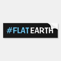 #flat earth bumper sticker