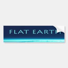 Flat Earth bumper sticker
