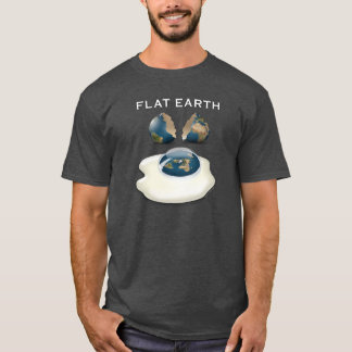 Flat Earth 'Cracked' Dark T-Shirt with eggs