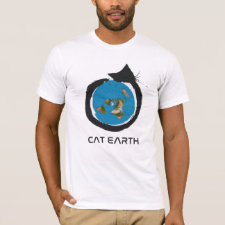 Flat Earth Designs - CAT EARTH  ---cat classic T-Shirt