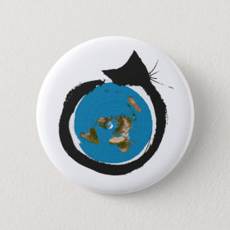 Flat Earth Designs - CAT MAP CLASSIC Button