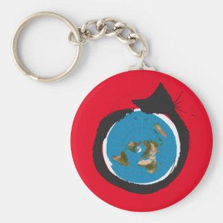 Flat Earth Designs - CAT MAP CLASSIC Keychain