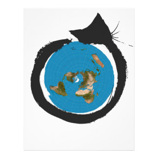 Flat Earth Designs - CAT MAP CLASSIC Letterhead