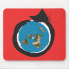 Flat Earth Designs - CAT MAP CLASSIC Mouse Pad