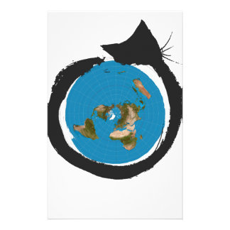 Flat Earth Designs - CAT MAP CLASSIC Stationery