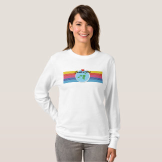 Flat Earth Designs - EARTH IS FLAT great colors T-Shirt