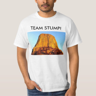 Flat Earth Has No Forests Team Stump Men's T-Shirt