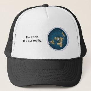 1d6e69aaa5390 Flat Earth Hat. It is our reality. Trucker Hat