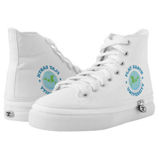 Flat Earth -- High top shoe
