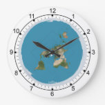 Flat Earth Large Wall Clock