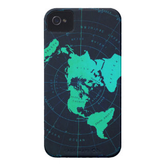 Flat Earth Map (Azimuthal equidistant projection) iPhone 4 Cover