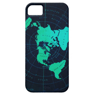 Flat Earth Map (Azimuthal equidistant projection) iPhone SE/5/5s Case