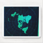 Flat Earth Map (Azimuthal equidistant projection) Mouse Pad