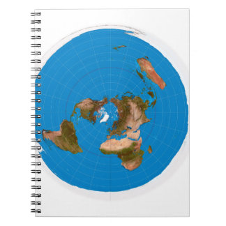 Flat Earth Map - Azimuthal Equidistant Projection Notebook