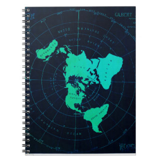 Flat Earth Map (Azimuthal equidistant projection) Notebook