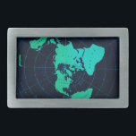 "Flat Earth Map (Azimuthal equidistant projection) Rectangular Belt Buckle<br><div class=""desc"">Super cool classic design.