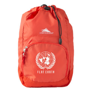 FLAT EARTH MAP - High Sierra RED Rugged Backpack