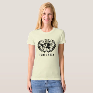 Flat Earth Map - NATURAL COLOR WOMENS T-Shirt