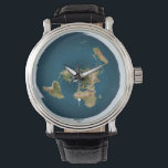 "Flat Earth Map Wrist Watch<br><div class=""desc"">Azimuthal Equidistant Map</div>"