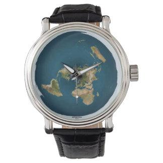 Flat Earth Map Wrist Watch